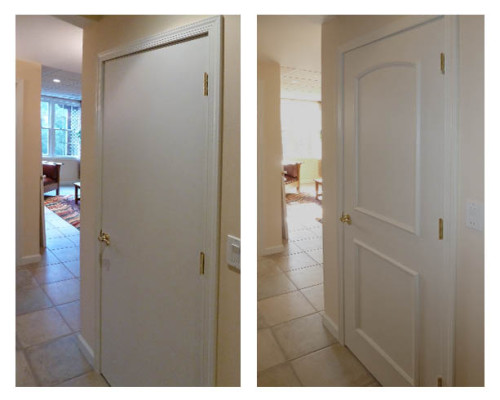 Before and After EZ Door Panels Before & Transform flat doors to attractive paneled doors fast with EZ Door